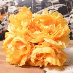 Букет пионы махровые 45 см желтые