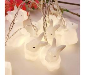 "LED ирлянда ""Кролики"" 20 ламп 3 м теплый-белый"