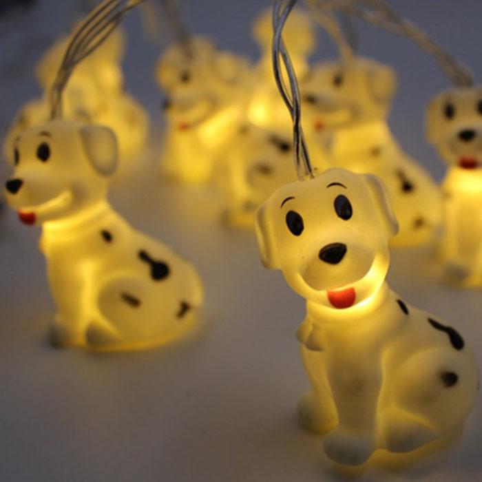 """Гирлянда """"Силиконовые собачки"""" 10 ламп 1,5 м"""