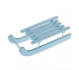Санки голубые 20 см