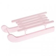 Санки розовые 15 см