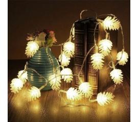 "Led гирлянда ""Шишки"" 20 ламп 3 м теплый-белый"