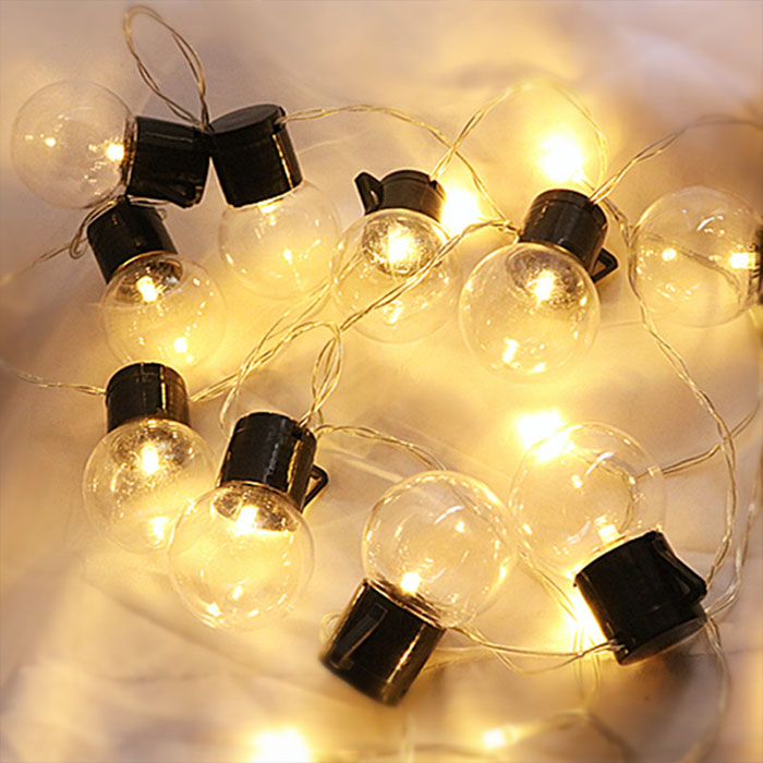 "Гирлянда ""Лампочки с черным патроном"" 40 ламп 8 м - USB"