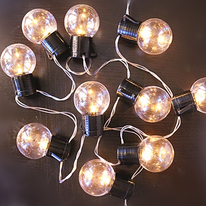 "Гирлянда ""Лампочки с черным патроном"" 20 ламп 4 м - USB"