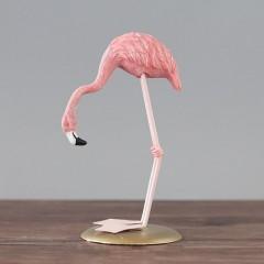 """Фигурка """"Фламинго на подставке"""" 14 см"""