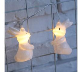 "LED ирлянда ""Кролики"" 10 ламп 1,5 м теплый-белый"