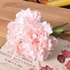 Букет пионы махровые нежно-розовые