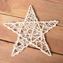 Звезда ротанговая 20 см - белая