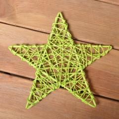 Звезда ротанговая 25 см - зеленая