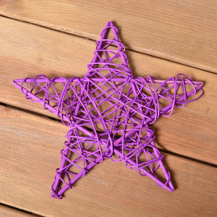 Звезда ротанговая 25 см - фиолетовая