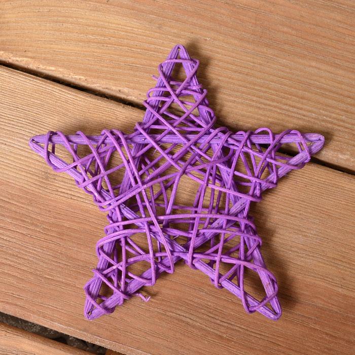 Звезда ротанговая 15 см - фиолетовая
