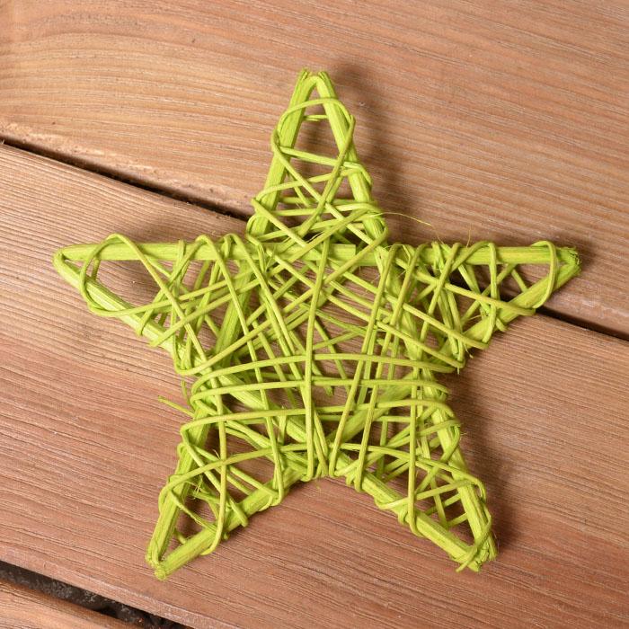 Звезда ротанговая 15 см - зеленая