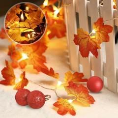 """Гирлянда """"Осенние листики двойные"""" 35 ламп 5 м батарейки"""