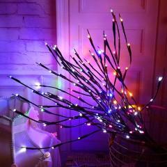 Декоративная ветка с подсветкой, 70 см. 20 ламп - цветная