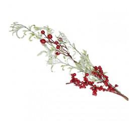 Веточка с листиками и ягодками 60 см