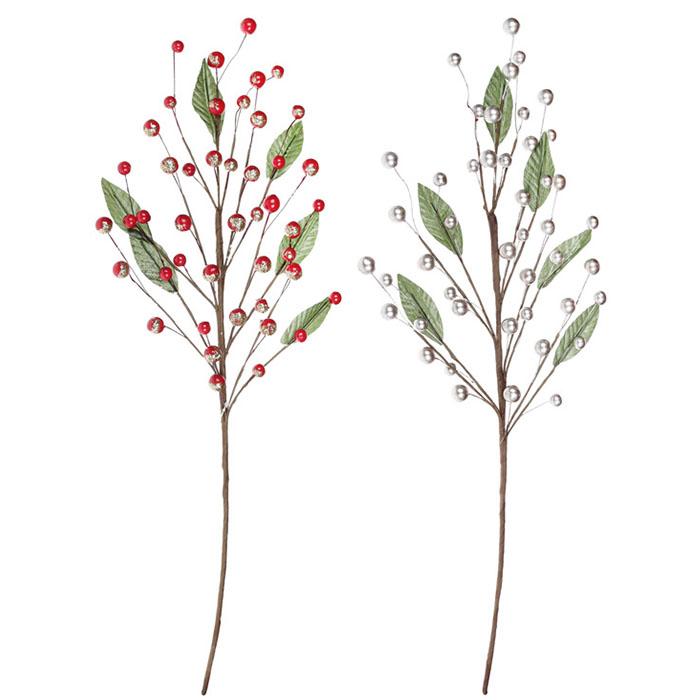 Ветка с листиками и ягодками 60 см - 4 вида