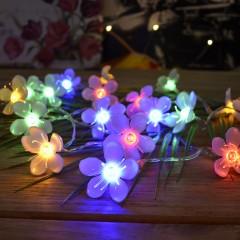 """Светодиодная гирлянда """"Цветы сакуры"""", 20 led, 2 м, цветная"""