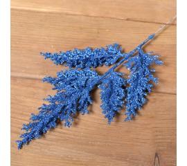 Веточка кипарис блеск 33 см - синяя