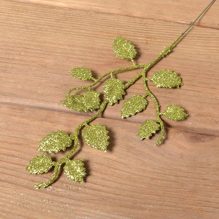 Веточка березка мелкая 26 см - зеленая