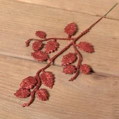 Веточка березка мелкая 26 см - красная