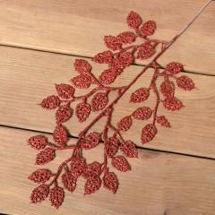 Веточка березка блеск 40 см - красная