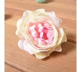 """Головка роза """"Мари"""" - персиковая с розовой серединкой"""