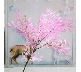 Ветка папоротник 65 см - розовый