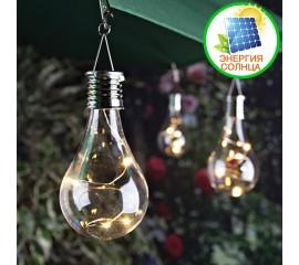 Подвесная лампочка с LED нитью на солнечной батарее