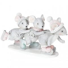 """Фигурка """"Мышки на сноуборде"""" 7,5 см"""