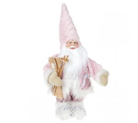 "Фигура под елку ""Санта в розовом"" 44 см"