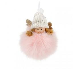 """Подвеска """"Куколка в розовом"""" 10 см"""