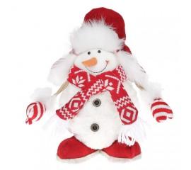 """Мягкая игрушка под елку """"Снеговик"""" 30 см"""