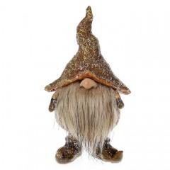 """Фигурка """"Гномик в коричневой шляпе"""" 13 см"""