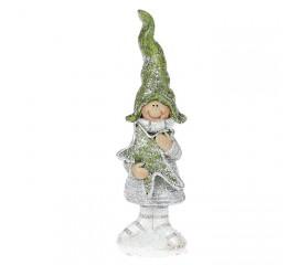 """Фигурка """"Мальчик с пряником в зеленом колпаке"""" 12 см"""
