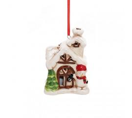 "LED подвеска ""Домик со снеговиком"" 7 см"