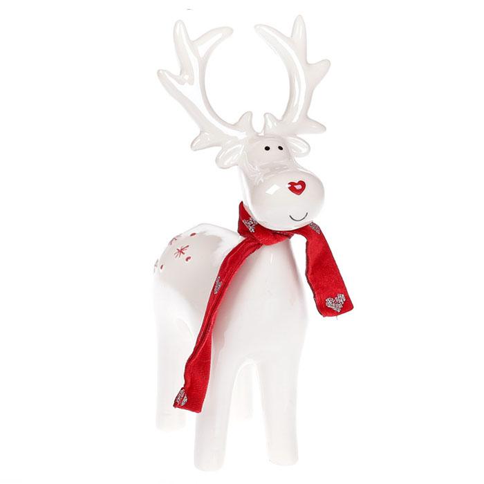 Керамический олень в шарфике 21 см