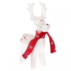 Керамический олень в шарфике 17 см