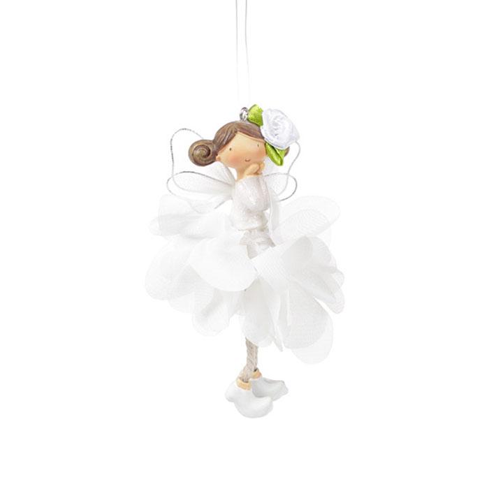 """Подвеска """"Цветочная фея - белая"""" 4 вида 14 см"""