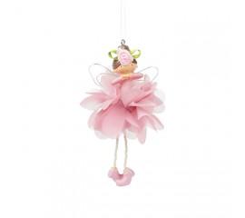 """Подвеска """"Цветочная фея - розовая"""" 4 вида 14 см"""