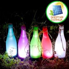 """Светодиодный декор """"Бутылка"""" на солнечных батареях - разноцветные"""