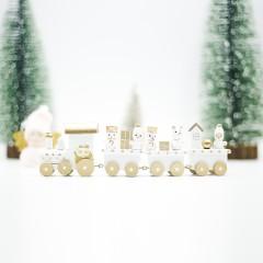 Новогодний паровозик - белый