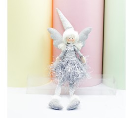 """Кукла """"Ангелочек в сером платье"""""""