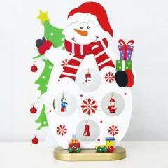 "Фигурка ""Снеговик с игрушками и бубенчиками"""