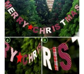"""Деревянная растяжка """"""""Merry Christmas"""""""