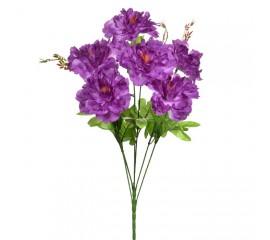 Букет пионы на 6 голов - фиолетовые