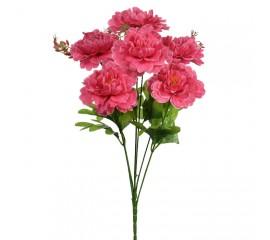 Букет пионы на 6 голов - темно-розовые