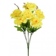 Букет півонії на 6 голів - жовті