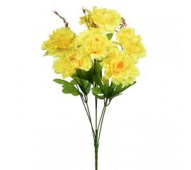 Букет пионы на 6 голов - желтые