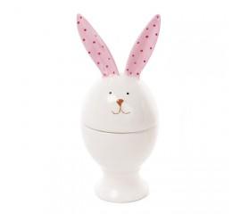 """Подставка для яйца """"Кролик с розовыми ушками"""" 15 см"""