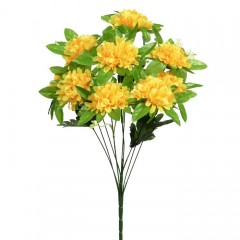 Букет калинка с розеткой - желтая 50 см